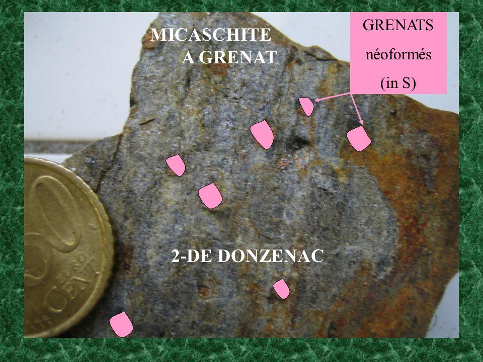 GRENATS néoformés (in S) MICASCHITE A GRENAT 2-DE DONZENAC