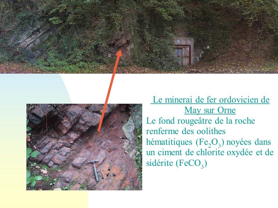 Le minerai de fer ordovicien de May sur Orne