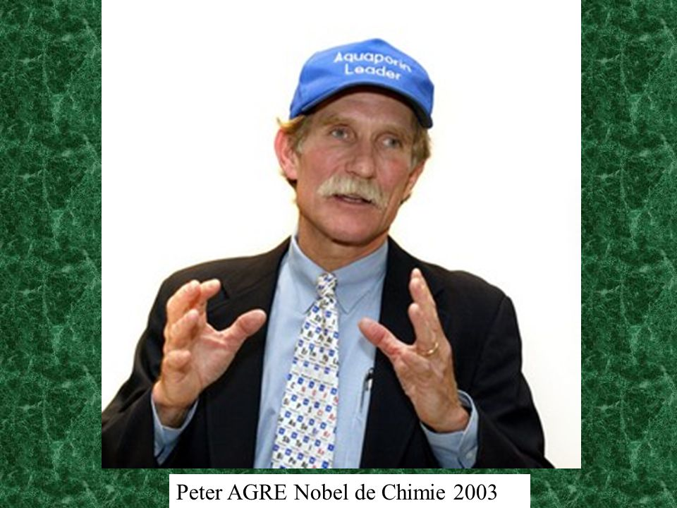Peter AGRE Nobel de Chimie 2003