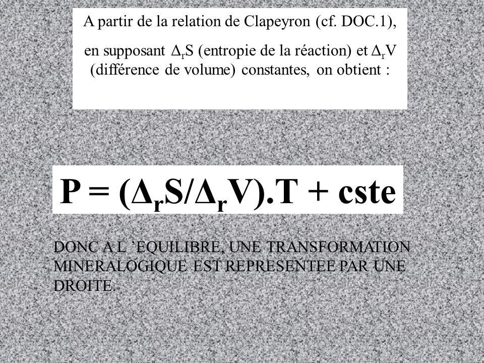 A partir de la relation de Clapeyron (cf. DOC.1),