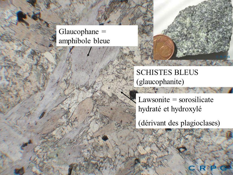 Glaucophane = amphibole bleue