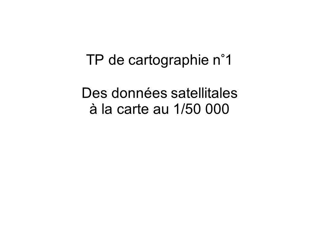 Des données satellitales