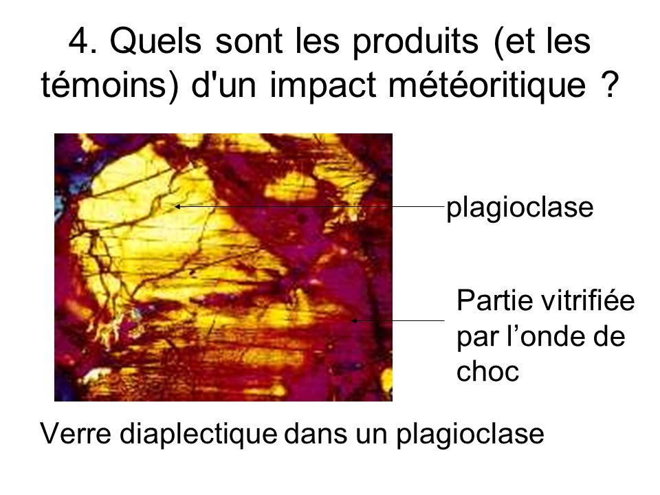 4. Quels sont les produits (et les témoins) d un impact météoritique