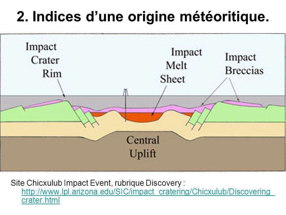2. Indices d'une origine météoritique.
