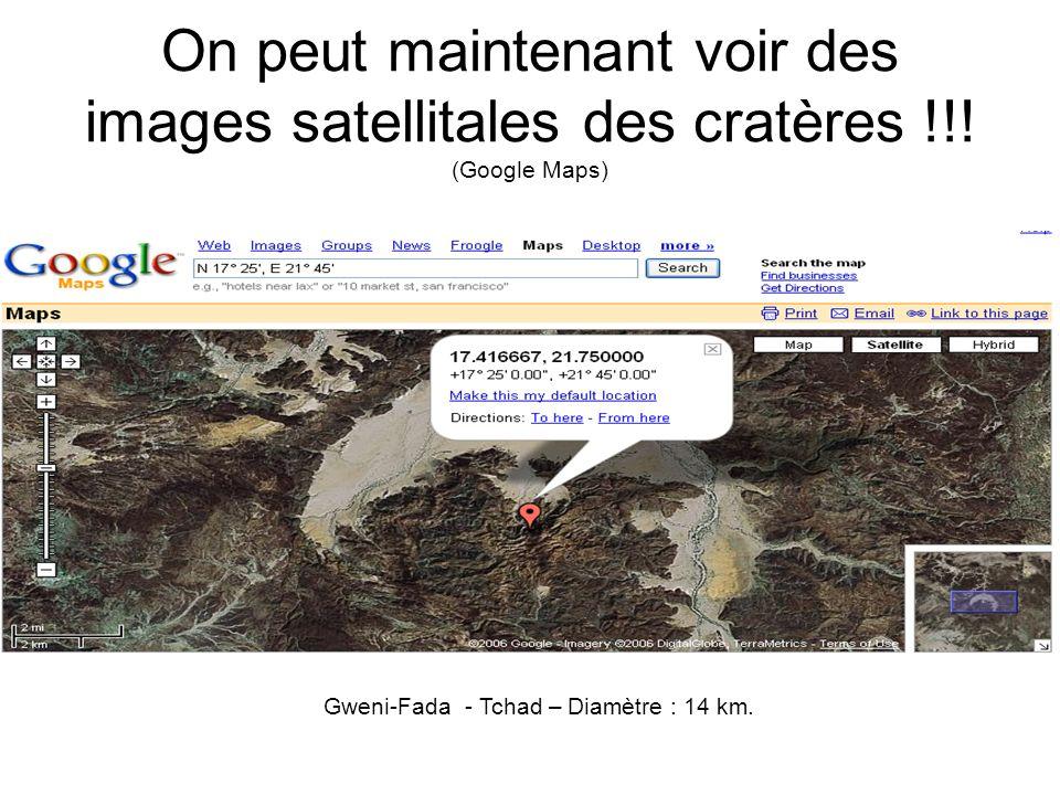 Gweni-Fada - Tchad – Diamètre : 14 km.