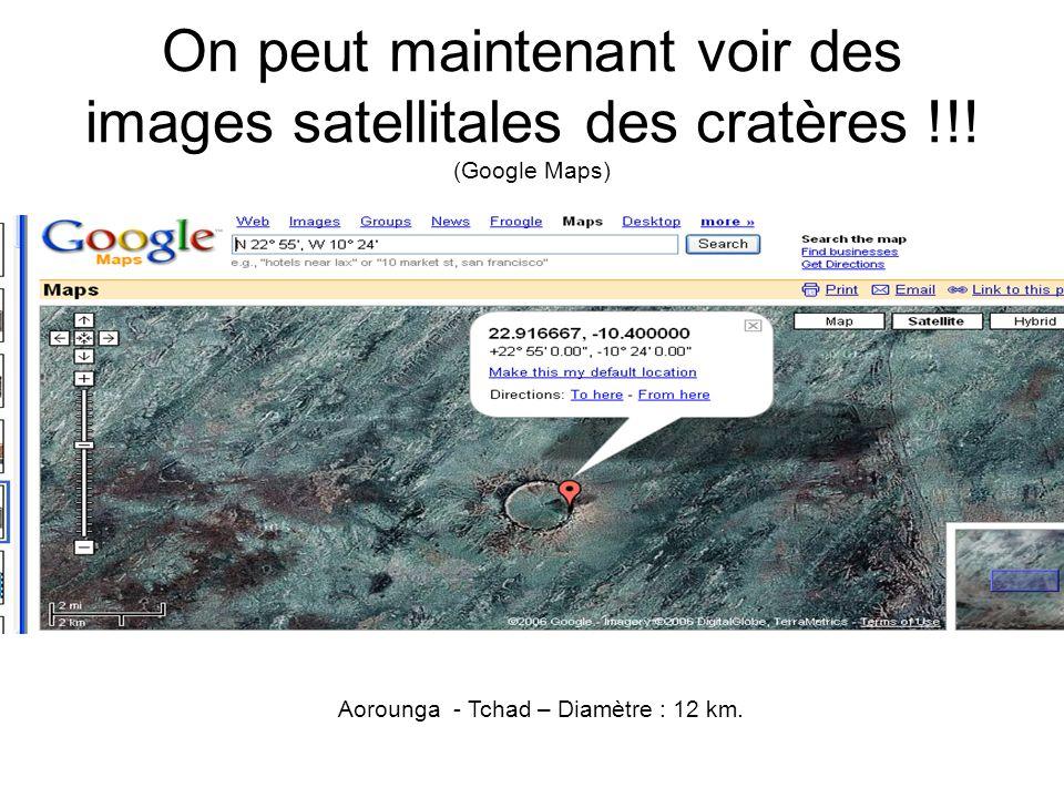 Aorounga - Tchad – Diamètre : 12 km.