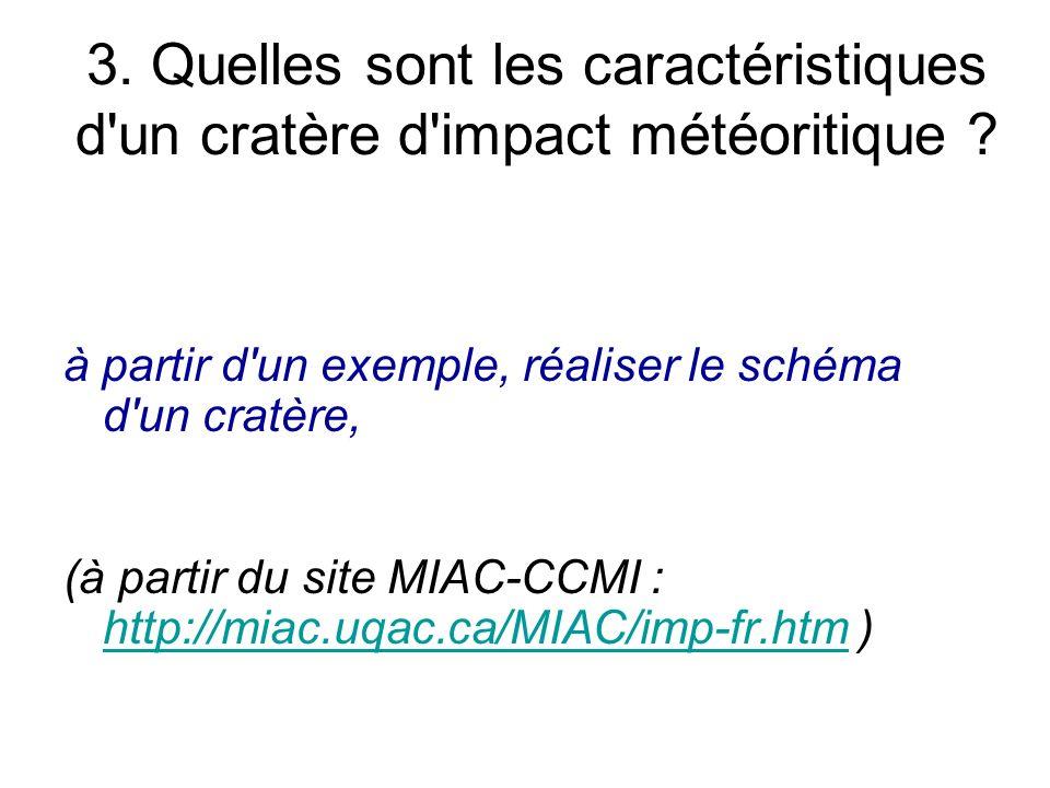 3. Quelles sont les caractéristiques d un cratère d impact météoritique