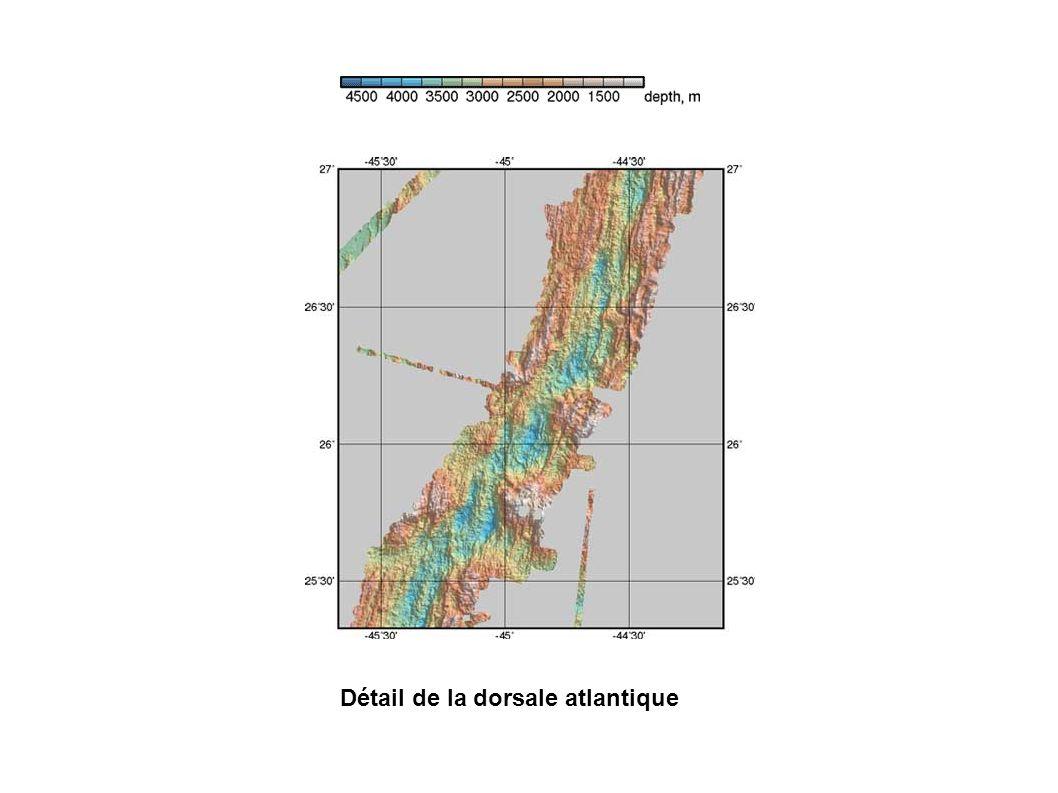 Détail de la dorsale atlantique