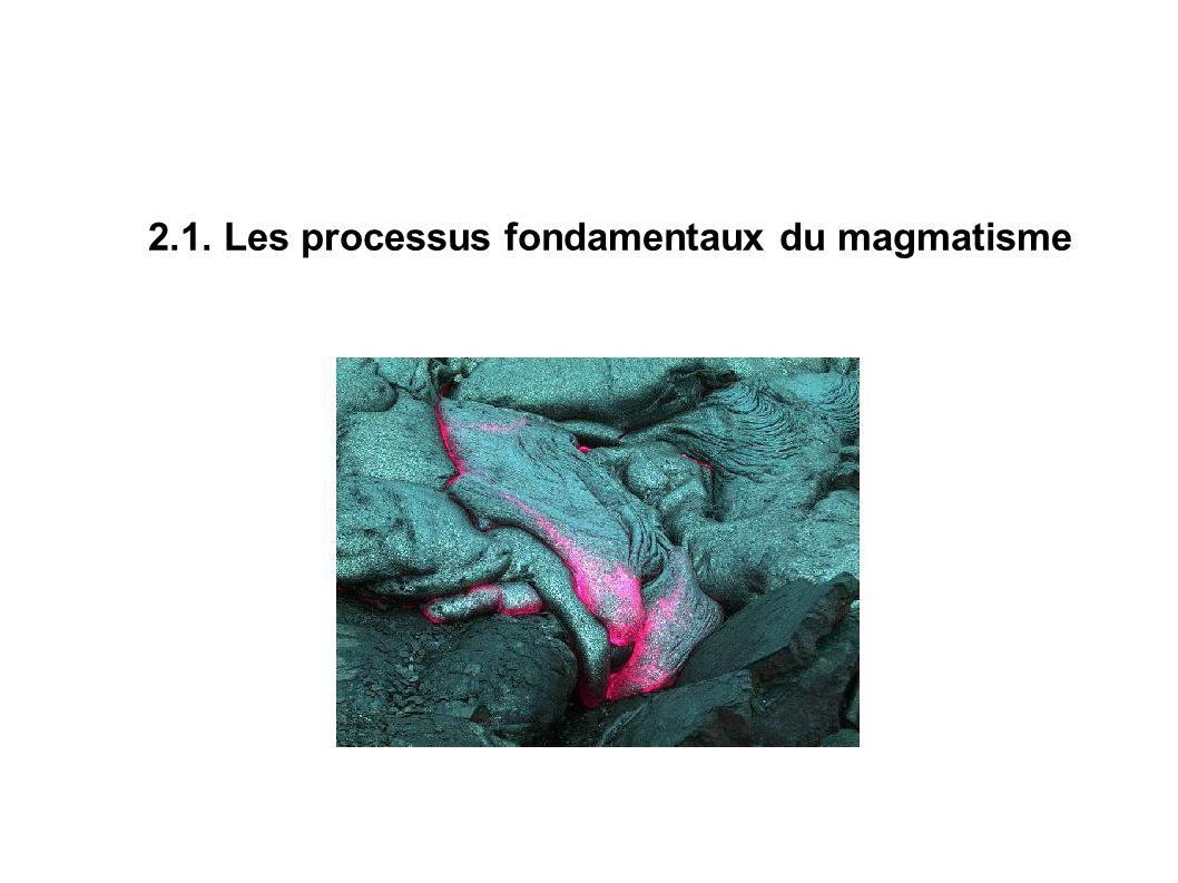 2.1. Les processus fondamentaux du magmatisme
