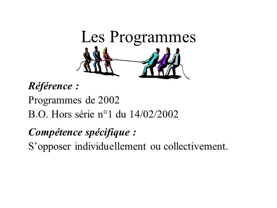 Les Programmes Référence : Programmes de 2002