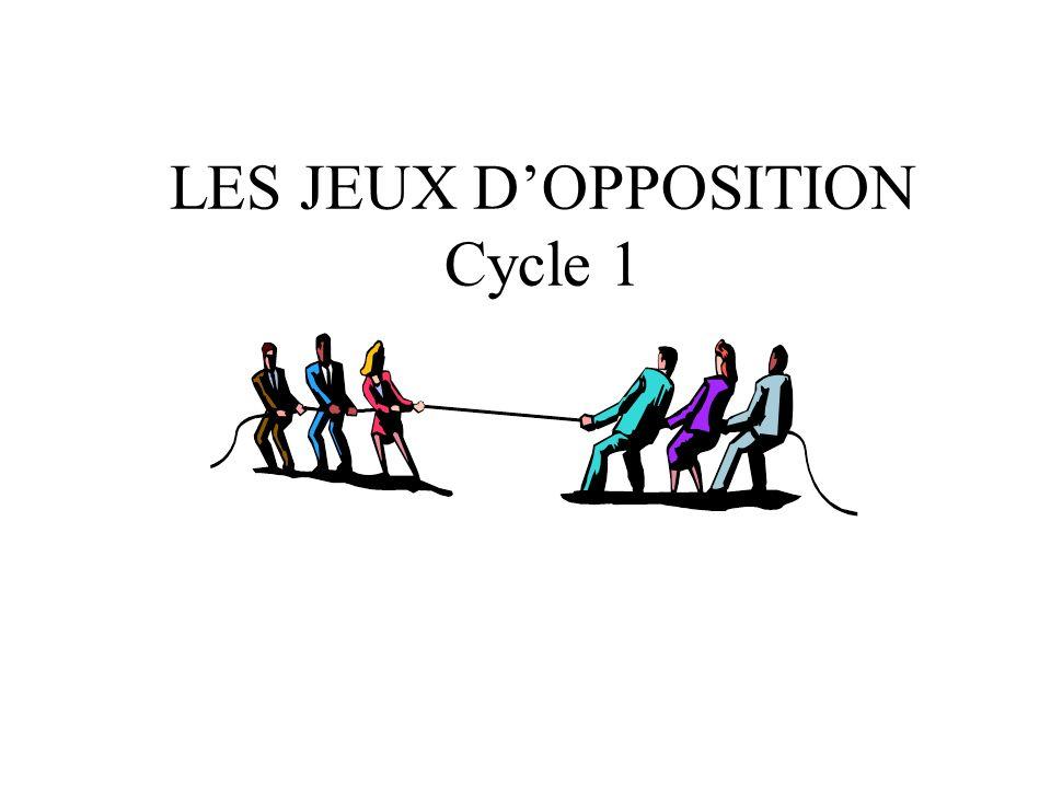 LES JEUX D'OPPOSITION Cycle 1