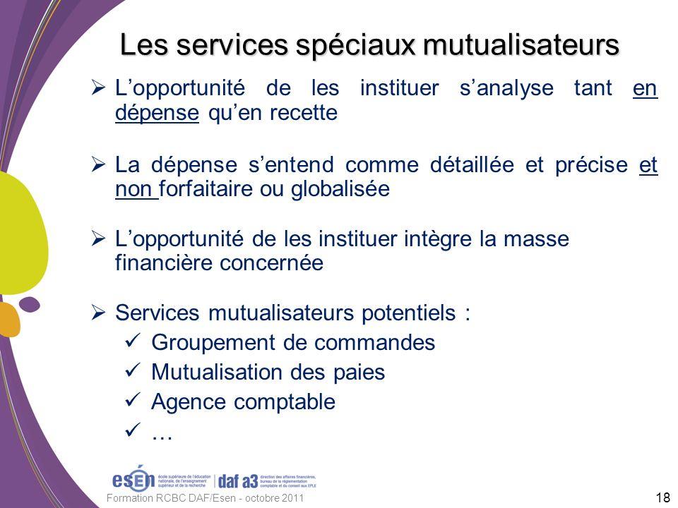 Les services spéciaux mutualisateurs