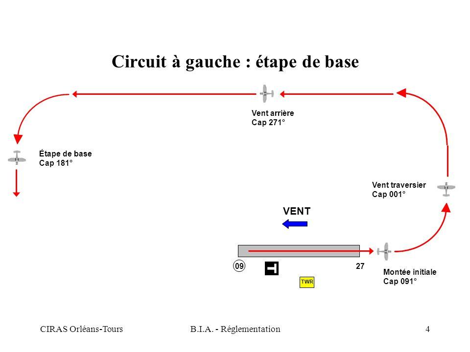 Circuit à gauche : étape de base