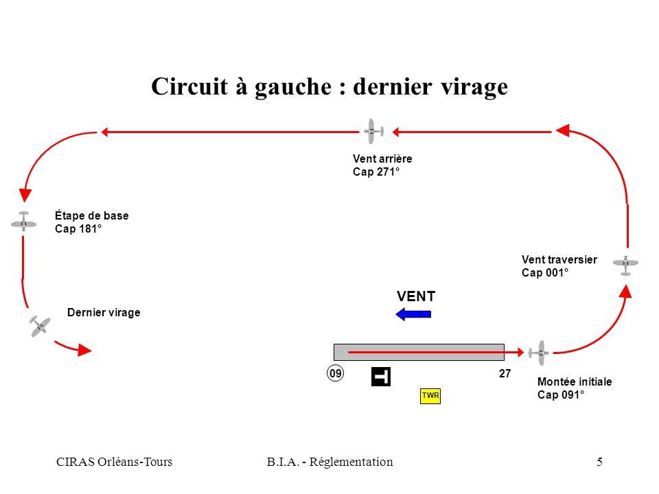 Circuit à gauche : dernier virage