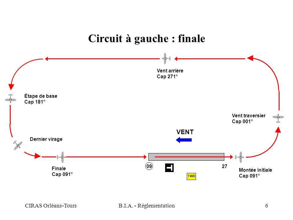 Circuit à gauche : finale