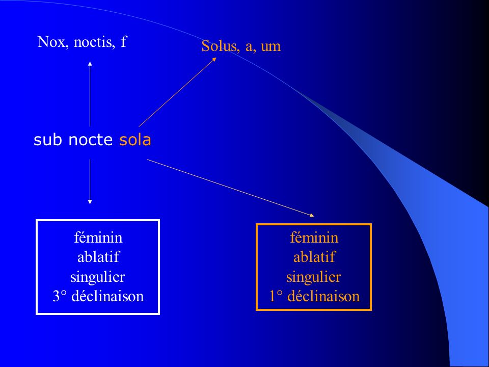 féminin ablatif singulier 3° déclinaison