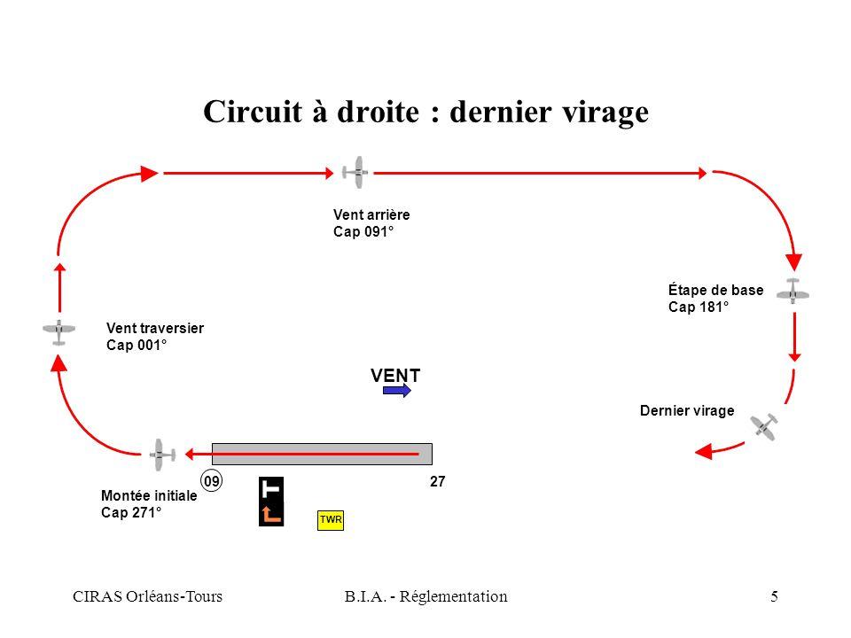 Circuit à droite : dernier virage