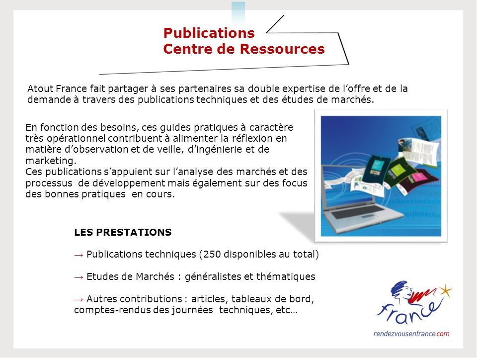 Publications Centre de Ressources