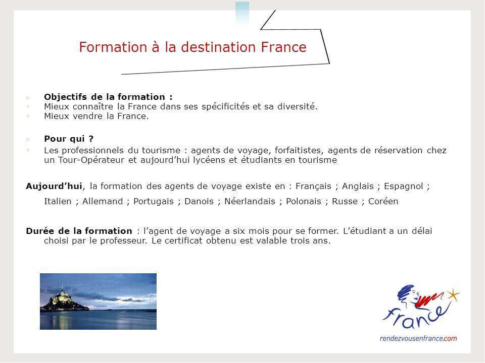 Formation à la destination France