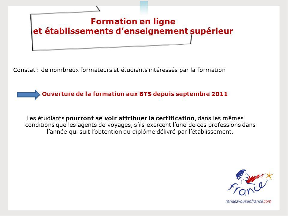 Formation en ligne et établissements d'enseignement supérieur