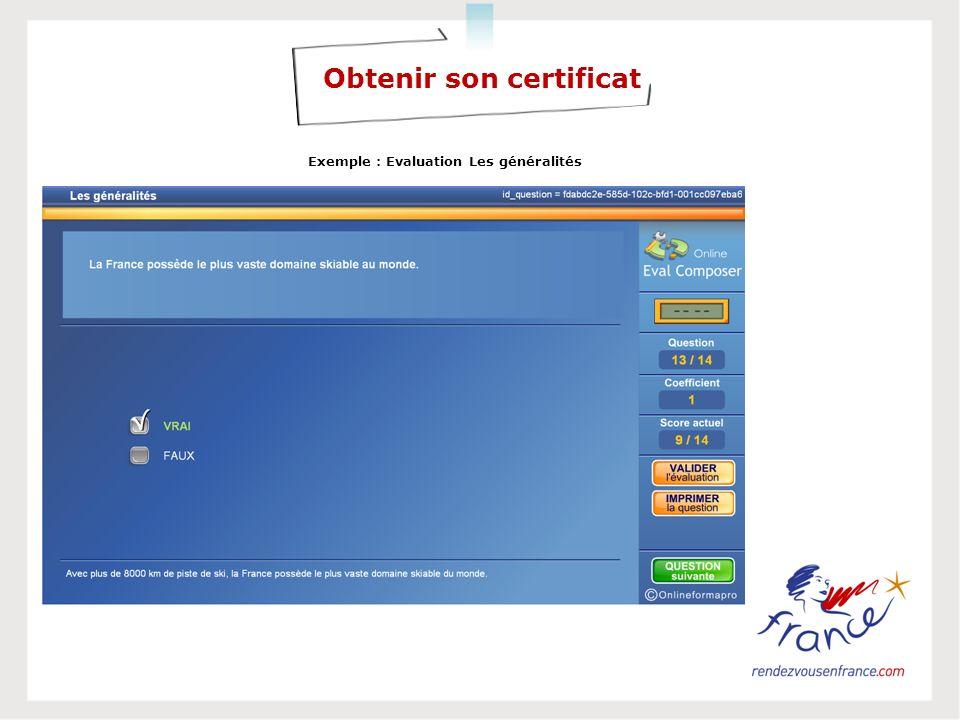 Obtenir son certificat