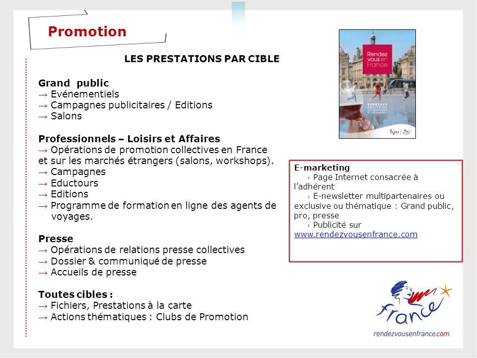 Promotion LES PRESTATIONS PAR CIBLE Grand public → Evénementiels