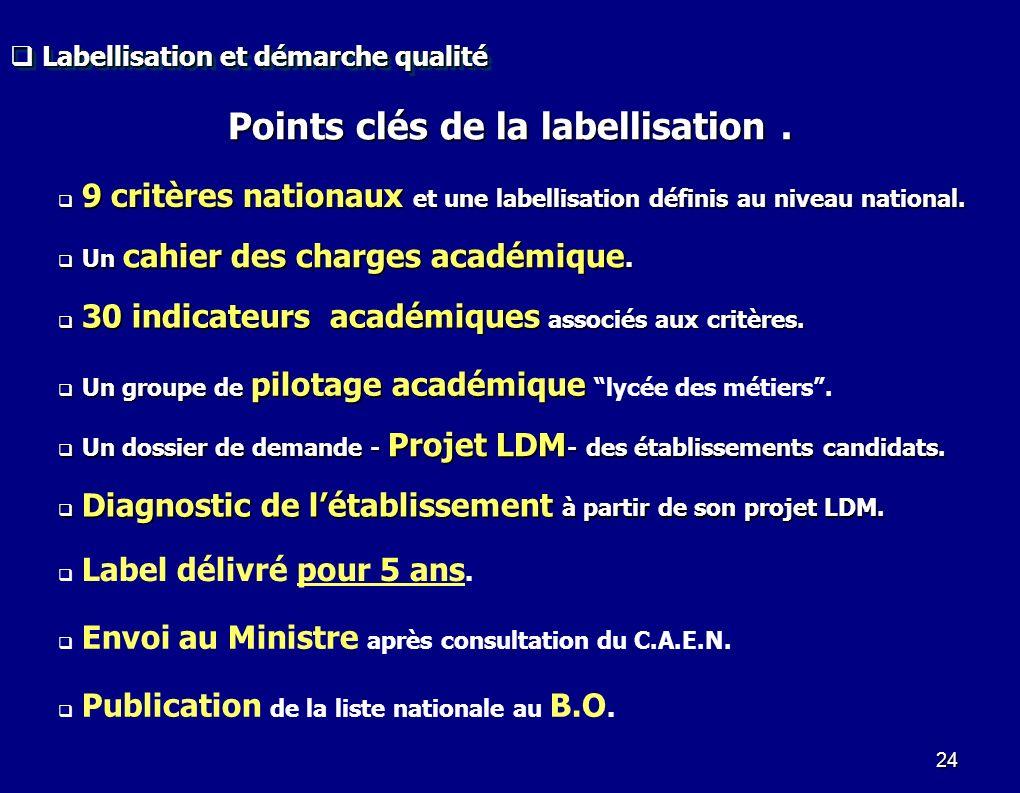 Points clés de la labellisation .