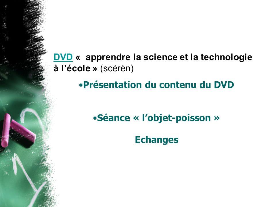 Présentation du contenu du DVD