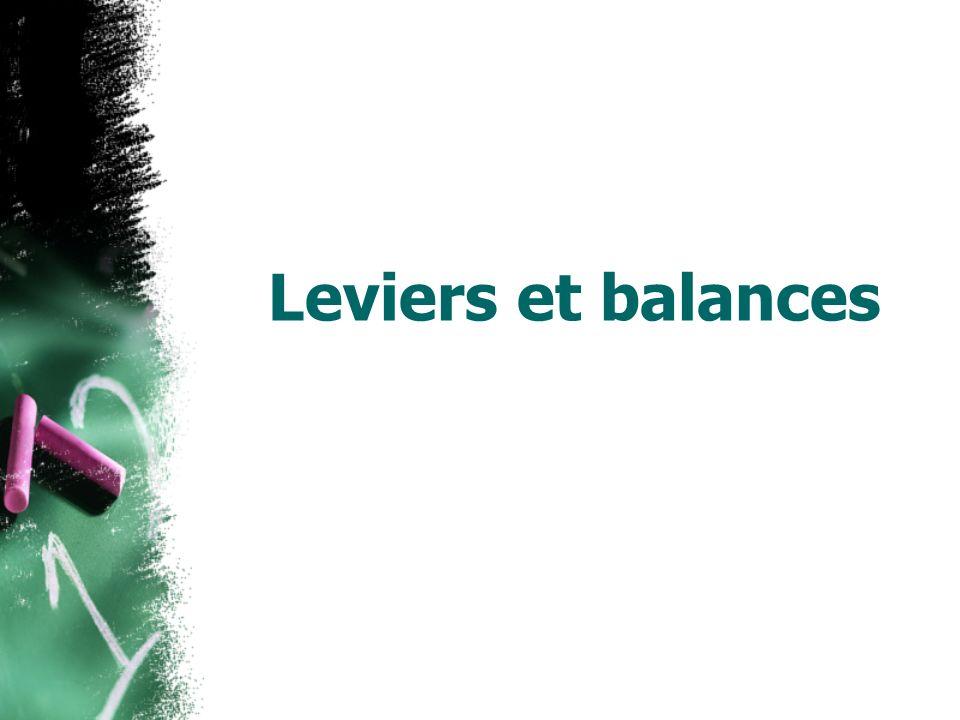 Leviers et balances 9