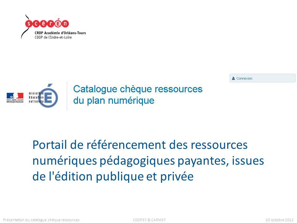 Portail de référencement des ressources numériques pédagogiques payantes, issues de l édition publique et privée