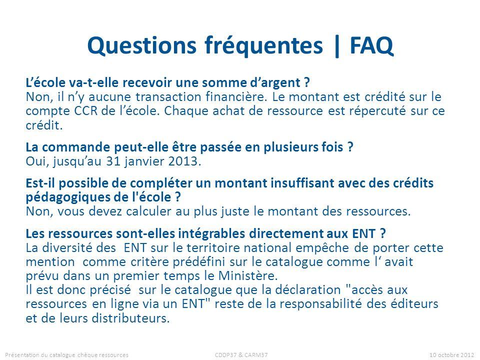 Questions fréquentes | FAQ