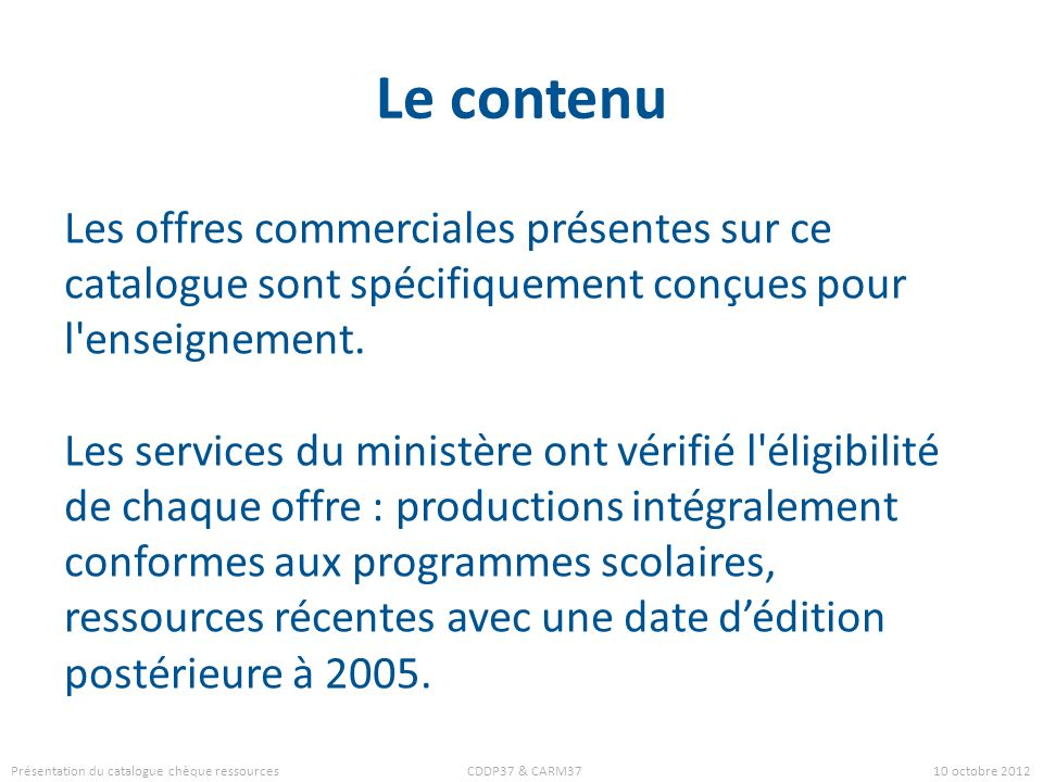 Le contenu Les offres commerciales présentes sur ce catalogue sont spécifiquement conçues pour l enseignement.