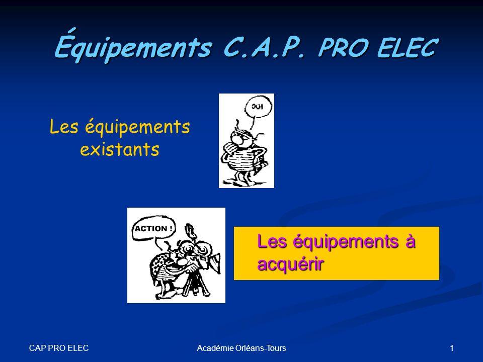 Équipements C.A.P. PRO ELEC
