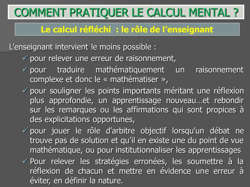 COMMENT PRATIQUER LE CALCUL MENTAL