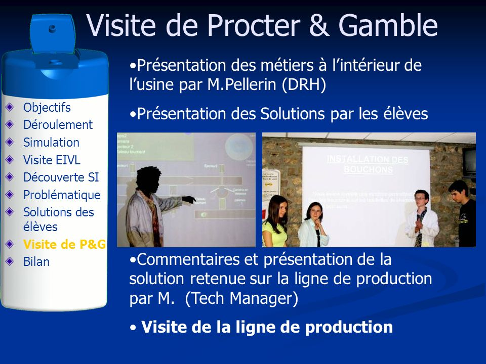 Visite de Procter & Gamble