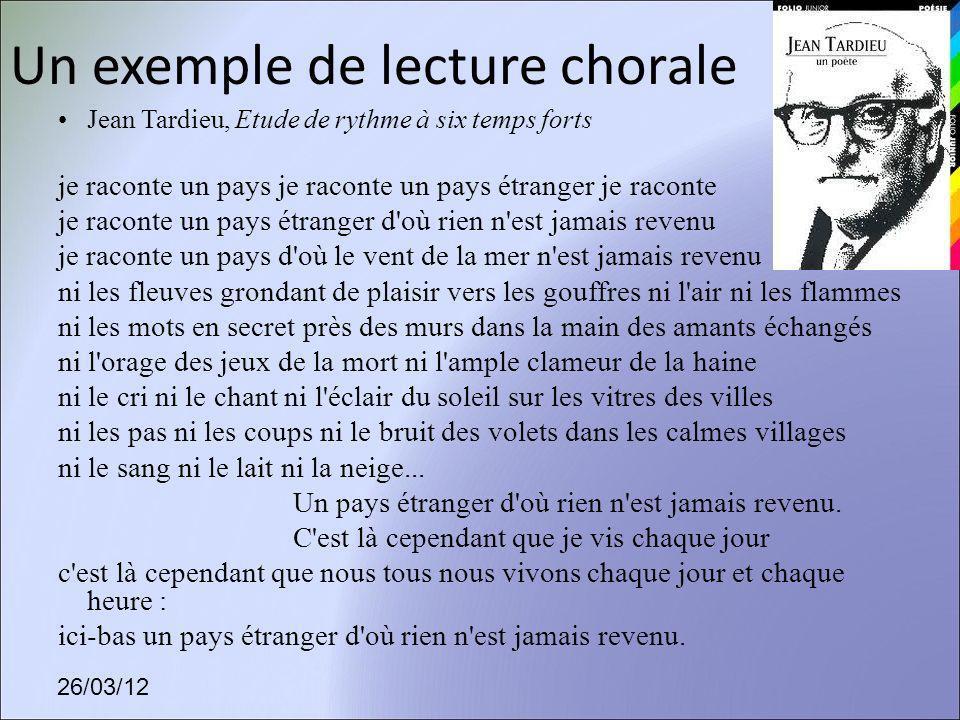 Un exemple de lecture chorale