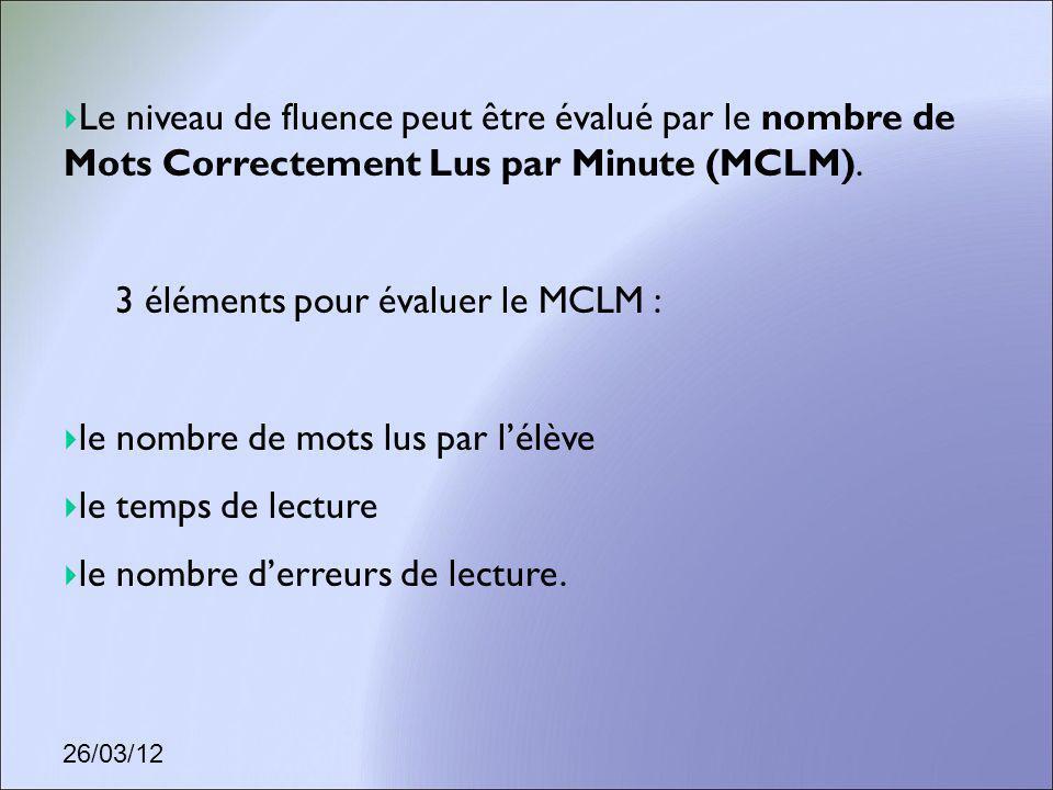 3 éléments pour évaluer le MCLM :