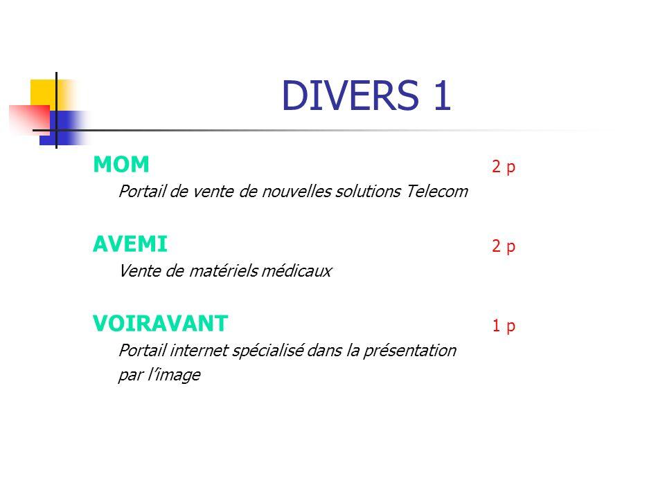DIVERS 1 MOM 2 p AVEMI 2 p VOIRAVANT 1 p