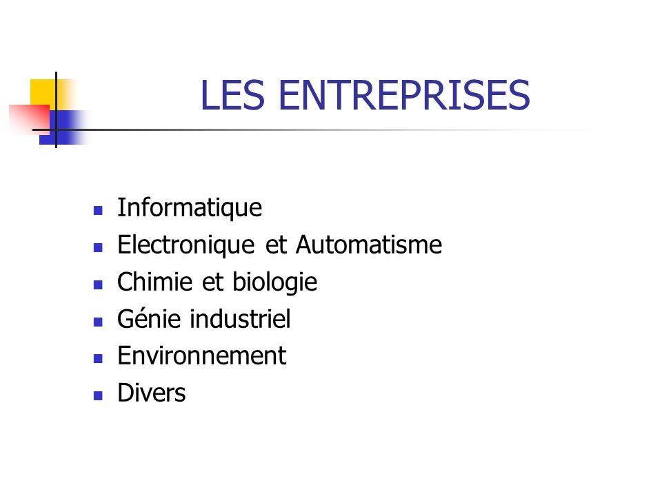LES ENTREPRISES Informatique Electronique et Automatisme