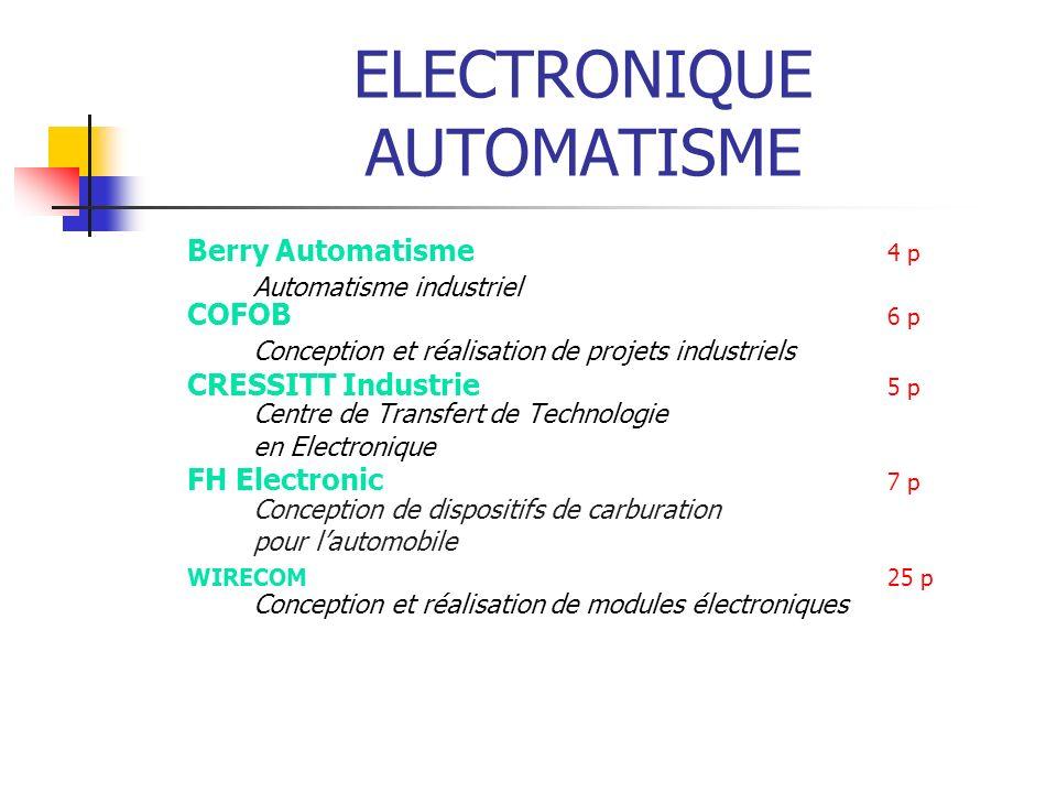 ELECTRONIQUE AUTOMATISME