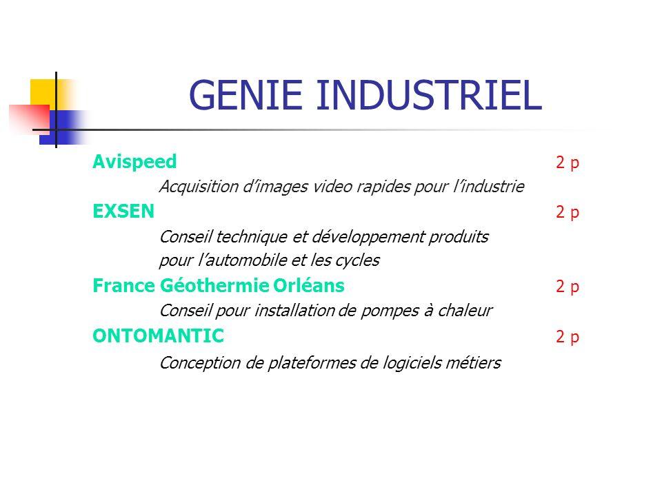 GENIE INDUSTRIEL Avispeed 2 p EXSEN 2 p France Géothermie Orléans 2 p