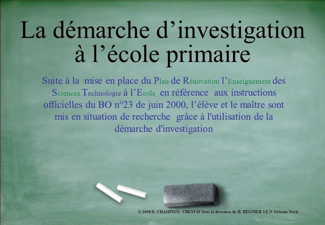 La démarche d'investigation à l'école primaire