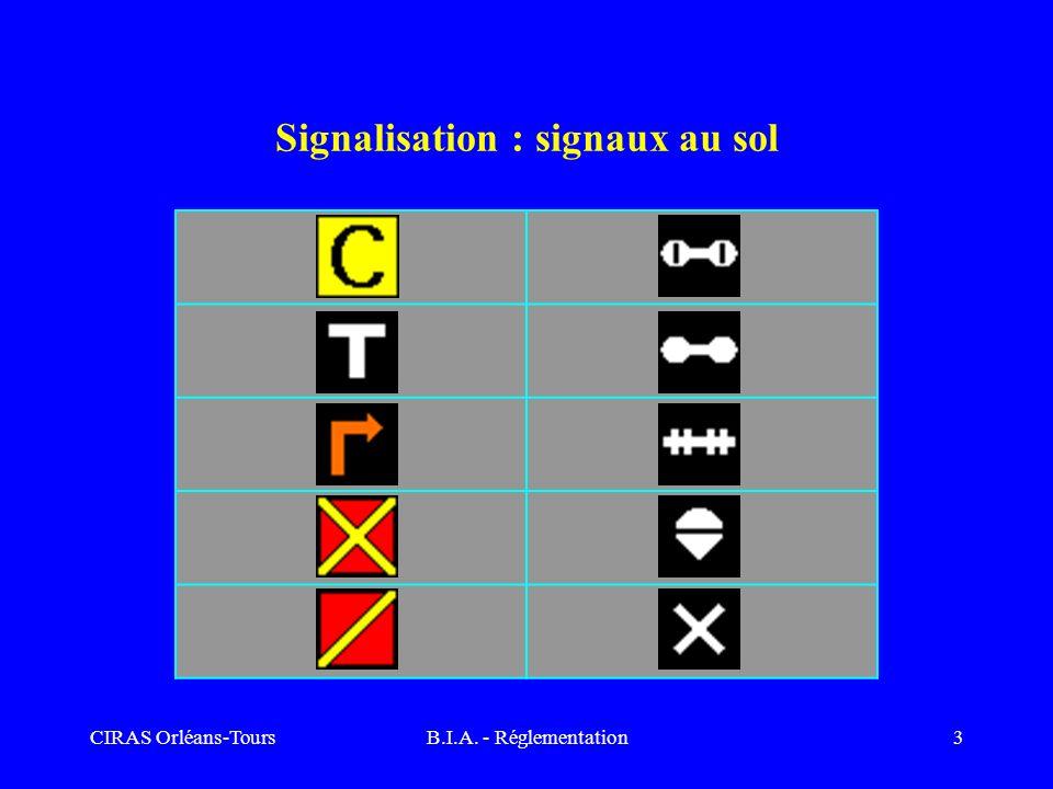 Signalisation : signaux au sol