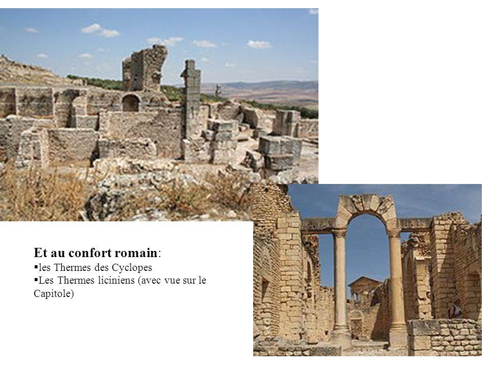 Et au confort romain: les Thermes des Cyclopes