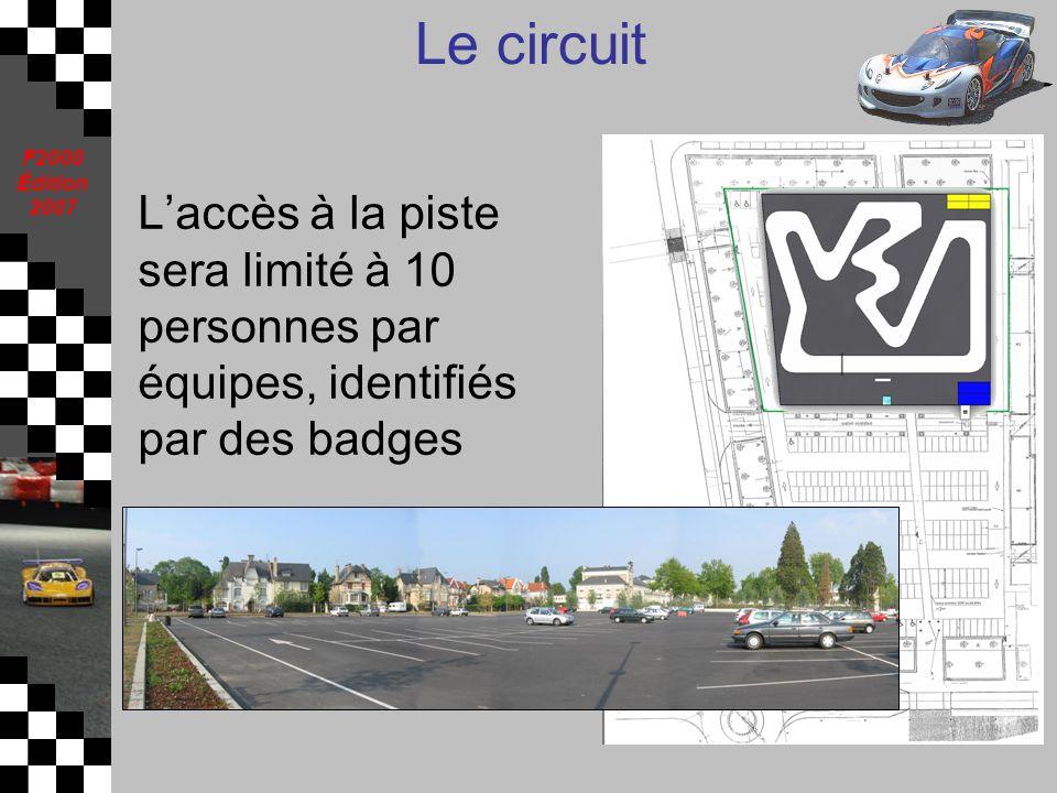 Le circuit L'accès à la piste sera limité à 10 personnes par équipes, identifiés par des badges