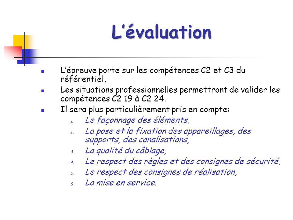 L'évaluation L'épreuve porte sur les compétences C2 et C3 du référentiel,