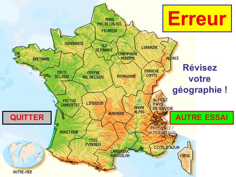 Révisez votre géographie !