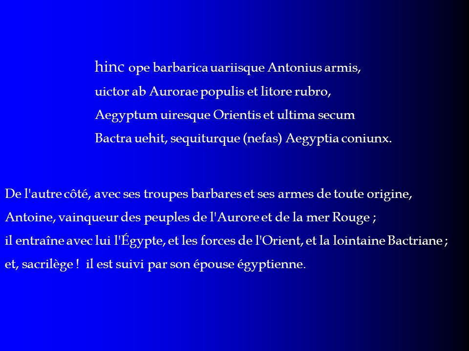 hinc ope barbarica uariisque Antonius armis,