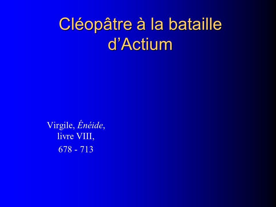 Cléopâtre à la bataille d'Actium