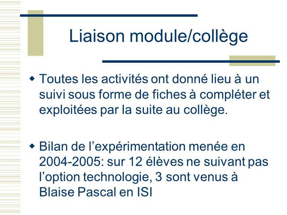 Liaison module/collège